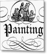 Allegory Of Finance, 1743 Metal Print