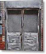 Alley Doors Metal Print