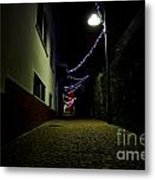 Alley With Lights Metal Print