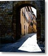 Alley With Sunlight Metal Print