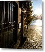 Alley With Sunshine Metal Print
