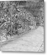 Alliance Boulevard By Lantern Light Metal Print