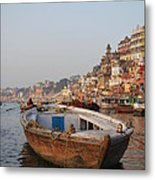 Alone On The Ganges Metal Print by Jen Bodendorfer