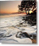 Alone With The Sea Metal Print by Mike  Dawson