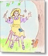 Along Came A Spider Little Miss Muffet Metal Print