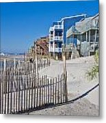 Along The Beach Metal Print