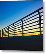 Along The Bridge Metal Print