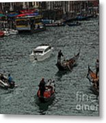 Along The Canal Metal Print