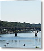 Along The Schuylkill River At Strawberry Mansion Metal Print