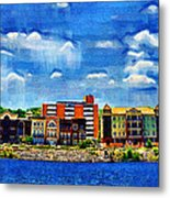 Along The Tennessee River In Decatur Alabama Metal Print