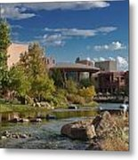 Along The Wild Horse River Metal Print