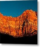 Alpenglow In Zion Canyon Metal Print