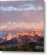 Alpenglow On The Cimarron Mountains - D003083a Metal Print