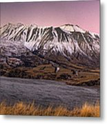 Alpenglow Over The Clyde River Metal Print