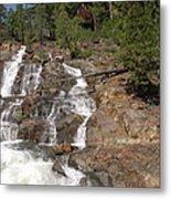 Alpine Creek Falls Lake Tahoe Metal Print