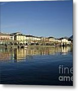Alpine Village Reflected In The Water Metal Print