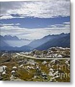 Alps And Road Metal Print