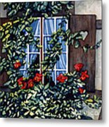 Alsace Window Metal Print by Scott Nelson