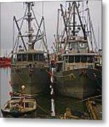 Aluminum Fishing Boats Metal Print