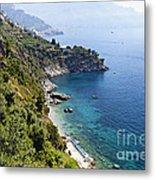 Amalfi Coast At Conca Dei Marini Metal Print