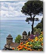 Amalfi Coast Spring Vista Metal Print
