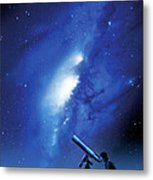 Amateur Astronomy, Computer Artwork Metal Print by Detlev Van Ravenswaay