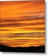 Amazing Sunset Over Obx Metal Print