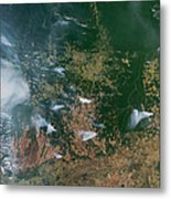 Amazon Basin Forest Fires, Satellite Metal Print by NASA / Science Source