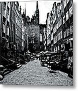 Amber Alley In Gdansk - Poland Metal Print
