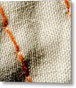 Amber Stitch Study Of Threads Up Close Metal Print