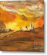 Amber Sunset Metal Print