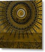 Amber Wheel I Metal Print by Ricki Mountain