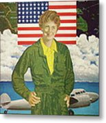 Amelia Earhart Calendar Art Metal Print