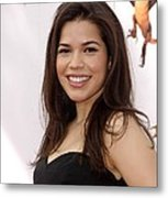 America Ferrera At Arrivals For How To Metal Print