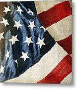 America Flag Metal Print