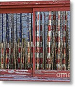 America Still Beautiful Red Picture Window Frame Photo Art View Metal Print