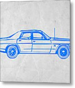 American Car Metal Print by Naxart Studio