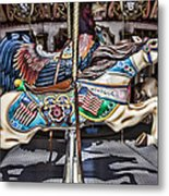American Carousel Horse Metal Print