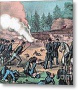 American Civil War, Battle Of Cold Metal Print