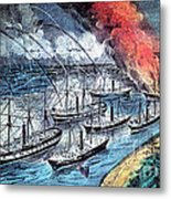 American Civil War, Farraguts Fleet Metal Print