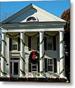 American Colonial Architecture Christmas  Metal Print