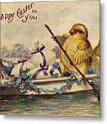 American Easter Card Metal Print
