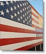 American Flag At Nathan's Metal Print