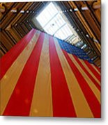 American Flag In Marshall Field's Metal Print