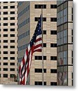 American Flag In The City Metal Print