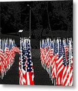 American Flags Metal Print