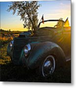 American Hot Rod Sunset Metal Print