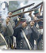 American Infantry Firing Metal Print