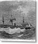 American Steamship, 1870 Metal Print