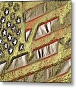 American Streets Of Gold Metal Print